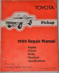 1980 toyota pickup truck factory shop service repair manual