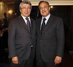 Enrique Cerezo y Florentino Pérez durante un acto conjunto