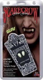 vampire fangs spirit halloween glow in the dark deluxe custom fangs u2014 scarecrow vampire fangs
