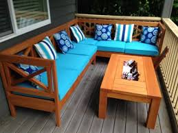 Building Outdoor Wood Furniture by Diy Outdoor Sectional X Design Wood With Coffee Table Ice Tray
