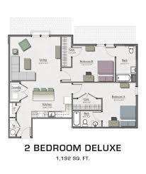 Floor Plan 2 Bedroom Apartment Floor Plans For Msu Students Student Housing In East Lansing