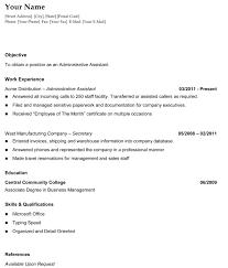 Resume Templates Microsoft Word       administrator resume     happytom co