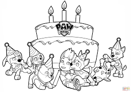 ryder u0027s birthday coloring page free printable coloring pages