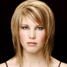 short hairstyles with layers and side bangs women medium haircut