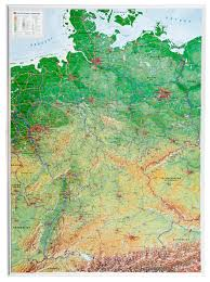 Map Germany by 3d Relief Germany Map Germany Wall Maps Europe Wall Maps