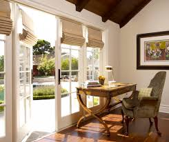 window treatments french doors home office traditional with cape
