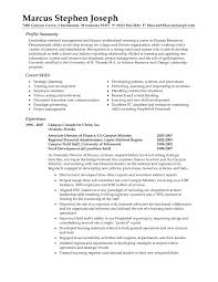 Resume Examples Human Resources Accounting Resume Skills Summary Virtren Com