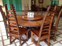 Wood Dining Room Handcrafted Reclaimed Ox Cart Teak Wood Dining Table With Lazy