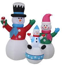Christmas Yard Decoration Images Amazon Com 6 Foot Tall Christmas Inflatable Snowman Snowmen