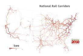 Amtrak Capitol Corridor Map by Our Maps America 2050