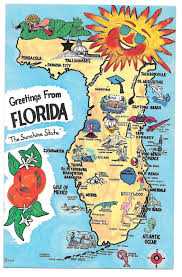 Avon Park Florida Map by Florida Illustrated Map Landmarks Cities Fl And 50 Similar Items