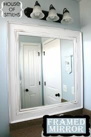Bathroom Mirror Ideas On Wall Best 20 Frame Bathroom Mirrors Ideas On Pinterest Framed