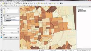 Thematic Maps Gis Census Tutorial 3 Making A Thematic Map Of Population In