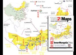Map Of China Provinces Inner Mongolia Map Map Of Inner Mongolia Province China