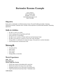 Example Job Resume by Sample Bartender Resume 22 Serverbartender Resume Samples
