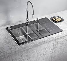 Stainless Steel Kitchen Sinks And Modern Faucets Functional - Sink designs kitchen