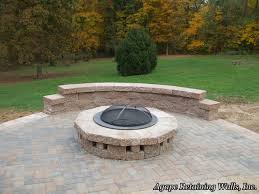 poolside fire pit agape retaining walls inc installed this