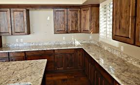 Granite Countertop  Glossy White Cabinets Tin Backsplash Can - White tin backsplash
