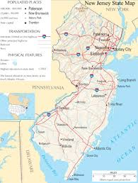 Large Map Of Usa by New Jersey State Map A Large Detailed Map Of New Jersey State Usa