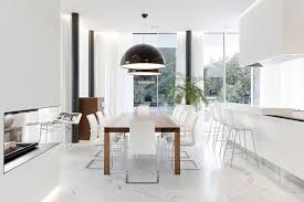 Contemporary Dining Room Table by Download Modern White Dining Rooms Gen4congress Pertaining To