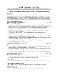 Phlebotomist Resume Sample No Experience by Good Objective For A Medical Assistant With Medical Assistant
