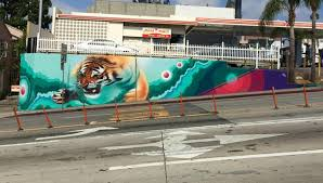 street murals dytch66 leap of faith west hollywood intersection of sunset san vicente boulevards