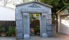 make a mausoleum halloween facade diy cemetery crypt youtube