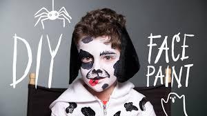 diy face paint dog makeup for halloween youtube