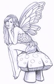 free exotic fairy coloring pages goth punk black white by exotic