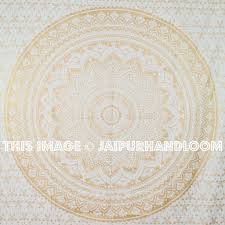 Ombre Color Wallpaper by Small Golden Color Floral Trippy Ombre Medallion Mandala Wall Tapestry