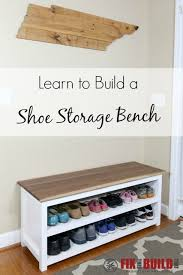 Diy Reclaimed Wood Storage Bench by Best 25 Shoe Bench Ideas On Pinterest Diy Bench Front Porch