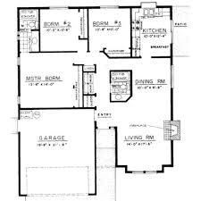 3 bedroom bungalow house designs floor plan for a small house 1150