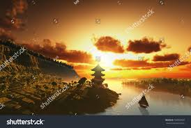 chinese house mountains stock illustration 106092920 shutterstock