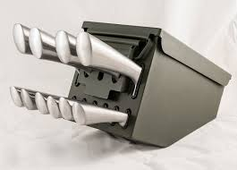 ammo box knife block the green head