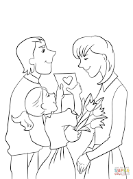 tulips for mom coloring page free printable coloring pages
