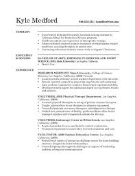 Physical Therapy Resume Sample by Cv Resume Example Sample Chronological Resume Cv Template