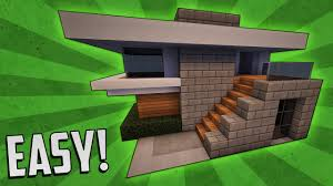Small House Build Minecraft How To Build A Small Modern House Tutorial 4 Youtube