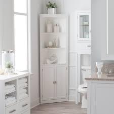 bathroom linen cabinet tower corner bath storage organizer closet