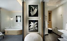 black and white printed spa interior design ideas