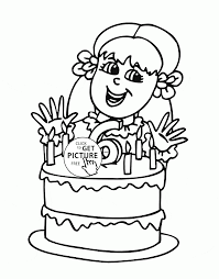 happy 6th birthday coloring page for kids holiday coloring