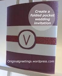 folded invitation folded pocket wedding invitation creative ramblings