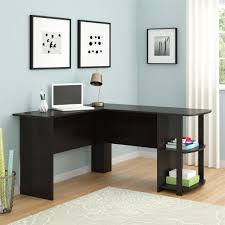 ameriwood furniture l shaped desk with 2 shelves in dark russet