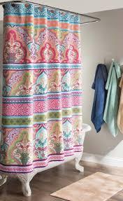 ruffled shower curtains bathroom curtain boho chic best ideas on