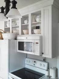 Glass Shelves Kitchen Cabinets Kitchen Cabinet With Microwave Shelf Kitchen Cabinet Ideas
