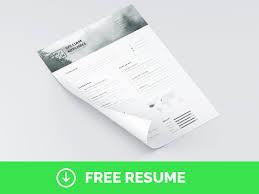 Resume   CV PSD Template   Free PSD Files Freepik