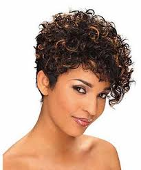 short haircuts curly hair pictures african american short hairstyles for curly hair with highlight