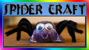 Halloween Crafts For Kids Easy Easy Spider Craft For Kids Youtube