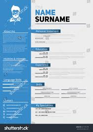 Curriculum Vitae Resume Template Resume Minimalist Cv Resume Template Simple Stock Vector 417191278