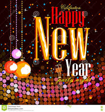 happy new year party celebration poster stock vector image 81523874