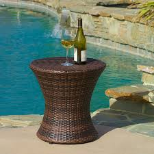 Patio Accents by Amazon Com Townsgate Outdoor Brown Wicker Hourglass Side Table